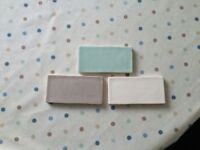 Laura Ashley wall tiles; cream, green and brown - 15cm x 7.5cm