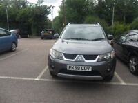 MITSUBISHI OUTLANDER ELEGANCE DI-D 59 REG. WITH 12 MONTHS MOT FOR SALE FOR £5,000.