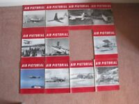 SET OF VINTAGE 'AIR PICTORIAL' MAGAZINES FOR 1962 WITH EXCEPTION OF JULY EDITION