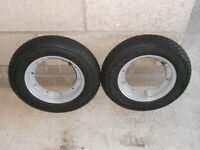 2 NEW VESPA 350 X 10 MICHELIN S83 CLASSIC TYRES AND WHEELS COMPLETE.