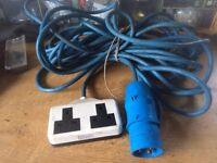 Caravan/Motorhome/Campervan/Camping Electric Hook Up cable Approx 10m for sale  Worcestershire