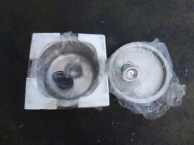 New Round bowl sink and drainer