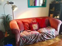 Free Pink Fabric Sofa - BS6