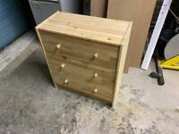 Pine storage drawers