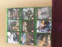Xbox X 9 Games Bundle