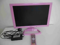 """TV Vistron 17"""" LCD - PINK- built in DVD player"""