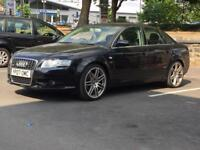2007 AUDI A4 1.8 TURBO * S LINE * AUTO * BLACK LEATHER * F.S.H * PART EX WELCOME * DELIVERY *