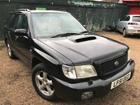 Subaru Forester S Turbo AWD 1994cc Petrol Turbo Automatic 5 door estate 51 Plate 23/01/2002 Black