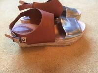 Clarks sandals with wedge