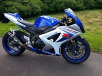 SUZUKI GSXR 1000 K8 LOW MILEAGE ,SERVICE HISTORY ,WITH EXTRAS AND WELL LOOKED AFTER