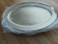 new stainless steel oval plater serving tray 50 cm