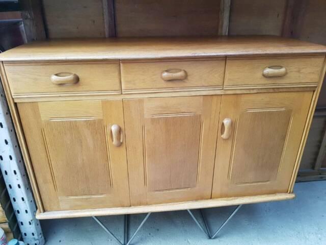 Vintage Mid Century Ercol Sideboard Cabinet Cupboard