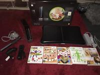 Boxed Nintendo wii black with board