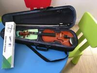 Child's violin case and stand