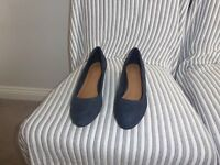 Brand New - Ladies Blue Suede Shoes