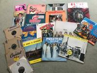 Collection of records vinyls