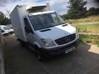 mercedes sprinter box fridge van.60 reg.MANUAL.one company owned.full service record