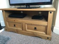 Mexican pine corona tv stand