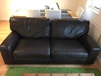 Leather sofa / couch - Marks and Spencer