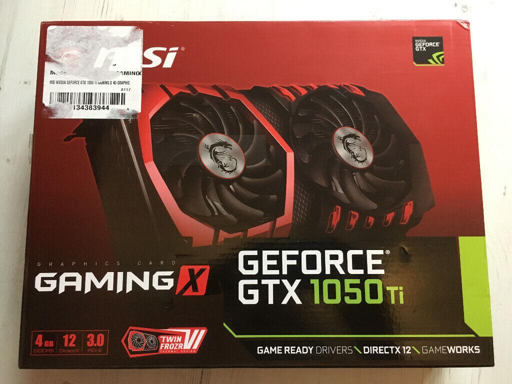 MSI GeForce GTX 1050 Ti GAMING X 4GB GDDR5 Graphics Card | in Craigmillar,  Edinburgh | Gumtree
