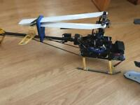 Rc 450 Helicopter ready to fly fitted with spectrum receiver