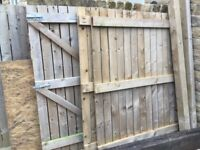 Garden gate, fence panels and posts for sale