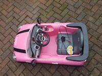 Kids pink mini cooper 6V