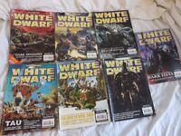 7 White Dwarf Games Workshop Books issue 255 257 258 259 260 261 262