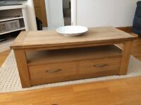 Coffee table (light oak) from Next