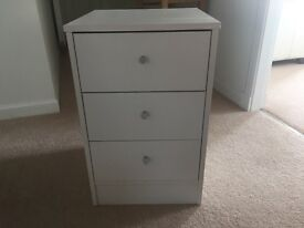 2 Ex-Showhome 3 Drawer Bedside Cabinets - White