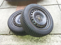"""Snow / Winter tyres 205 55 R16 (94V), Snowspeed 3, on Ford Mondeo 16"""" steel rims"""