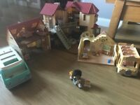 Large Selection Sylvanian Families Beechwood Hall, Cosy Cottage, Nursery, Campervan.l