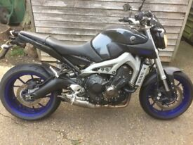 Yamaha MT09 2014. Very good condition 11month MOT many extras fitted. NOW SOLD