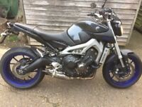 Yamaha MT09 2014. Very good condition 11month MOT many extras fitted.