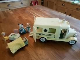 Sylvanian families ambulance and doctor set