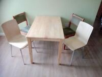 DINNING TABLE+4CHAIRS- £25