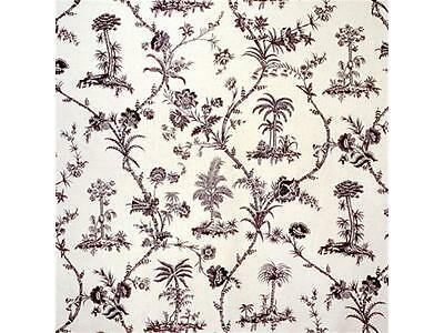 """Brunschwig and Fils fabric 'WEST INDIES TOILE"""" -Charcoal-2yds + 24 inches"""