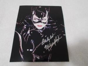 Michelle Pfeiffer signed 8x10 color photo