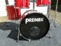 Vintage Premier APK 4 drum kit with stands and pedals - Ferrari Red