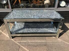 Mirrored Diamond Crush Large Coffee Table