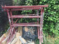 Builders trestles adjustable steel 3x