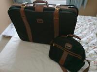 Green Antler suitcase and carry bag