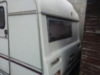 2 berth carvan with awning