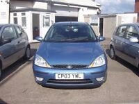 2003 FORD FOCUS ZETEC 1.6 ,AIR CON,FULL SERVICE HISTORY 10 STAMPS IN BOOK 12 MONTHS MOT