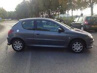 2008 Peugeot 206 1.4 Petrol 3dr+Long MOT+77000 Miles+Full Service History+Hpi Clear for £1195
