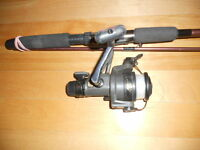 Canne moulinet a peche Shimano, Quantum, fishing rod and reel