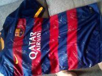 Signed Barcelona shirt neymar Messi etc