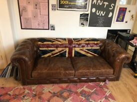 Andrew Martin Rebel Sofa Union - Chesterfield 3 seater - mint (Retail Price: £2999)