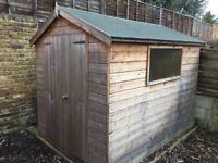 8x6ft Wooden Garden Shed - Very good condition