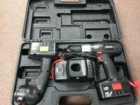 Drill Driver and Flash Light Combo Kit with Case